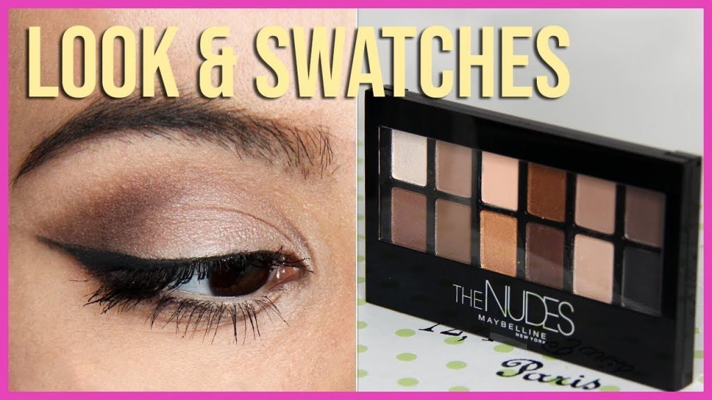 maybelline eyeshadow nude color palette